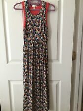 Monteau Girl Floral Navy Blue/Coral Long Maxi Dress Size 7 (XS)