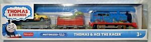 💥FISHER-PRICE THOMAS AND FRIENDS TRACKMASTER TRAIN - THOMAS AND ACE THE RACER