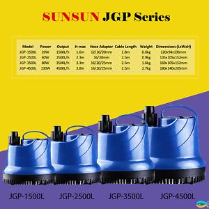 Sunsun Brand New Submersible 1500L/H, 2500L/H, 3500L/H, 4500L/H Water Pump