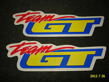 2 AUTHENTIC TEAM GT BICYCLE FRAME STICKERS #23 / DECALS / AUFKLEBER