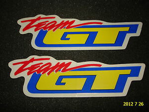 2 AUTHENTIC TEAM GT BICYCLE FRAME STICKERS #23 / DECALS