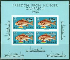 GHANA  IMPERFORATED SOUVENIR SHEET FREEDOM FROM HUNGER SCOTT#254a  MINT NH
