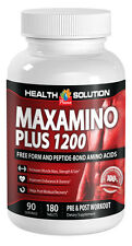 Maxamino Plus 1200, Pre & Post Workout Amino Acid (1 Bottle, 180 Tablets)