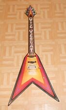 Vic Vergat Guitar Original 1981 Flat Cardboard Display Poster Vintage Rare