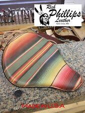 Rich Phillips Mexican Blanket Spring Solo Motorcycle Seat Chopper Sportster Bobb