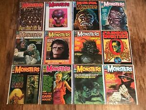 Famous Monsters of Filmland Lot of 20 Warren Magazines King Kong 1960s