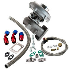 T04E T3/T4 A/R.63 57 Trim 400+HP Universal Turbo Charger+Oil Feed+Drain Line Kit