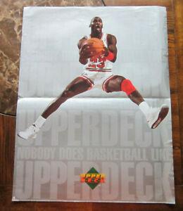 1991 Upper Deck MICHAEL JORDAN POSTER Chicago Bulls NBA basketball promo photo