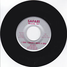 RED(LOU)BERRY-SAFARI 20069 COUNTRY NOVELTY 45 I SAID I COUDN'T WRITE A SONG VG++
