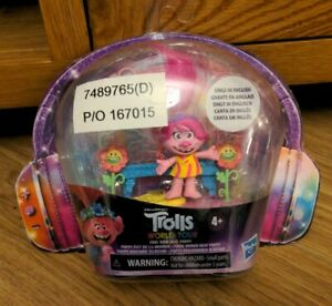 Hasbro DreamWorks Trolls World Tour Find Your Beat Poppy Singing Toy NEW BNIP