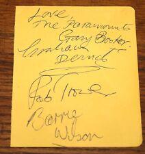 SPENCER DAVIS GROUP ~ THE PARAMOUNTS ~ SIGNED 1965 AUTOGRAPH PAGE UACC DEALER