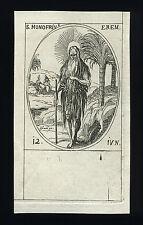 santino incisione 1600 S.ONOFRIO ER.  j.callot