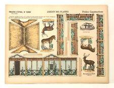Pellerin Imagerie D'Epinal-# 1200 Petites Construction Jardin des Plantes