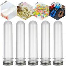 12 Pcs Klare Reagenzgläser Kunststoff Reagenzgläser mit Schraubverschluss 40ml