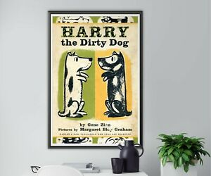 """Harry the Dirty Dog Children's Book POSTER! (up to 24""""x36"""") - 1956 - Kids - Art"""