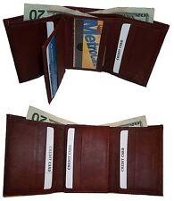 Man's wallet: leather Tri-fold wallet 12 Cards 2 billfold ID New Billfold wallet