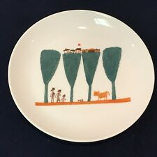 Bone China Plate with Painting by a Renowned Korean Artist Chang Uc Chin