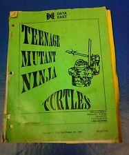 Data East Teenage Mutant Ninja Turtles Pinball Machine Manual - used original