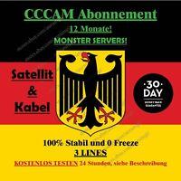CCCAM Abonnement 12 Monate SAT und Kabel Dreambox vu + Price 24,95 €