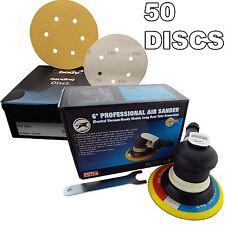 "150mm 6"" Professional Palm Air Sander 6mm Random Orbit Sanding + 50 Discs"