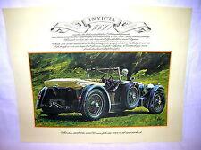 Vintage Bild Poster 1930 Invicta S  England Cobham  ca. 41 x 33cm