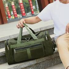 Men's Large Holdall Bag Gym&Sports Duffle Bag Canvas Travel Weekend Shoulder Bag