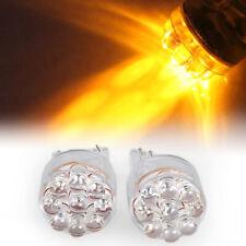 2 X T20 3156 7440 9-LED Car Turn Tail Brake Light Lamp Bulb Amber