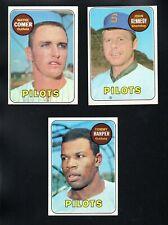 3 NRMT EXMT PILOTS LOT 1969 TOPPS #631 346 42 JOHN KENNEDY COMER RC TOMMY HARPER
