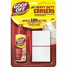 Goof Off FG705E 4 Oz Plus Heavy Duty Erasers with 6-Pads