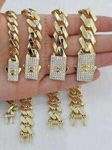 10k Gold Royal Cuban Link Chain Men's Monaco Necklace Box Clasp HIGH POLISHED