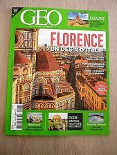 REVUE   GEO  N° 506  -  AVRIL  2021  /  FLORENCE , UN  DESIR  D'ITALIE