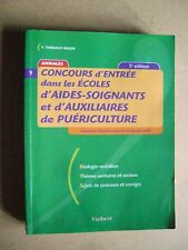 Concours d'entrée écoles aides soignants et auxiliaires de puériculture 9 /C10