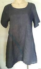 Linen Asymmetrical Hem Solid Dresses for Women