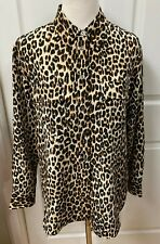 Equipment SLIM SIGNATURE SILK SHIRT NATURAL UNDERGROUND LEOPARD PRINT Size S/P