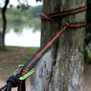 Adjustable Hammock Hanging Tree Strap Outdoor Camping Portable 280cm L1J0