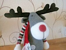 STUNNING HAND CROCHETED XMAS STAG OR REINDEER SHELF SITTER.