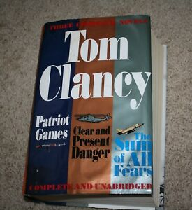 Tom Clancy 3 Novels Patriot Games, Clear & Present Danger, The Sum of All Fears
