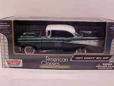 1957 Chevy Bel Air Hard Top Coupe Die-cast Car 1:24 by Motormax 8 inch Green