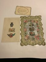 Vintage 1920 Valentine Cards Lot Of 3 Preowned
