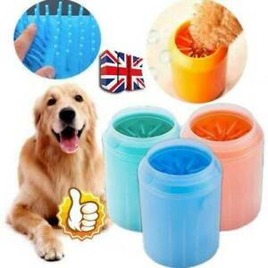 Portable Dog Paw Cleaner Pet-Cleaning Brush Cup Dog Foot Cleaner Feet Washer-New