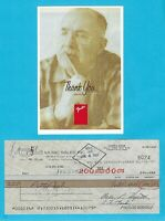 """Leo Fender 1987 Autographed Signed G&L Payroll Check w/ HP Photo """"Petty Cash"""""""