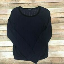 Armani Exchange Navy Thin Knit Rayon Sweater Sz Med