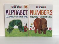 2 Eric Carle Brown Bear & Hungry Caterpillar Coloring & Activity Books