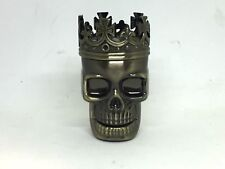 Skull Herb Grinder Mill Bronze Metal 3 Pcs Layer Portable Size Tool A454-27