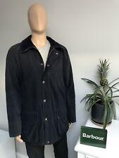 """Barbour T749 Soft Cotton Beaufort Navy Blue Men's Jacket Coat Size XL 28"""" chest"""