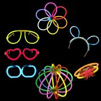 7pcs Glow Stick Connector Pack Eye Glasses Flower Butterfly for Birthday Party