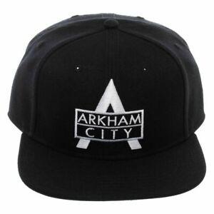OFFICIAL DC COMICS - BATMAN ARKHAM CITY LOGO EMBROIDERY BLACK SNAPBACK CAP