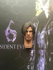 "Hot Toys Resident Evil 6 Leon S Kennedy 12"" Head Sculpt loose 1/6th scale"