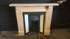 Original Victorian cast iron insert with tiles and reclaimed pine surround