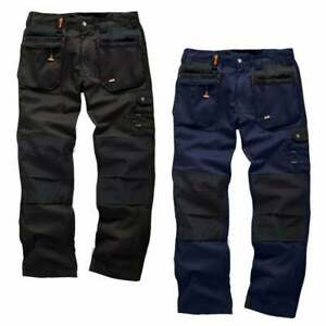 Scruffs BLACK NAVY WORKER PLUS Trousers   Trade Hard Wearing Work Trousers Pro